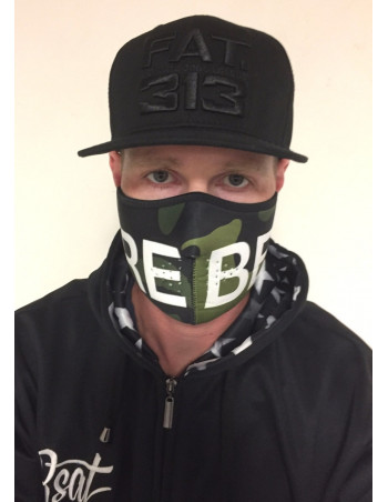 RudeCru Rebel Half Mask Camo