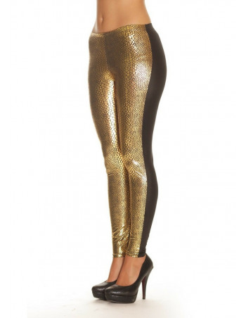 2tone Gold Snake Leggings
