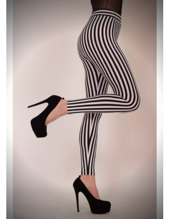 BlackNWhite Striped Leggings