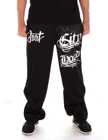 Hood Sweatpants BlackNSilver by BSAT