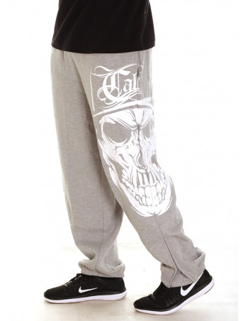 Cali Skull Sweatpants Grey by BSAT