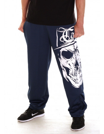 BSAT Cali Skull Sweatpants Blue