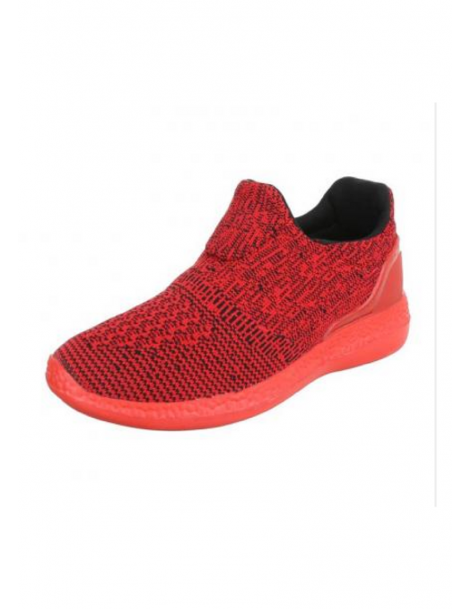 Light Knitted Red Sneaker by N.Y.