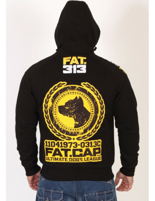 FAT313 Ultimate Dogs League Yellow Zip Hoodie