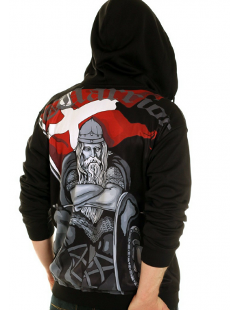Nordic Nation Warrior Holger Danish ZipHoodie