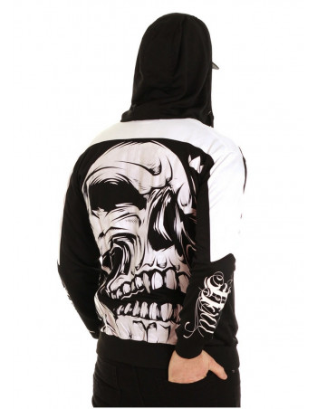 Big Skull Panther Hoodie BlackNWhite by BSAT