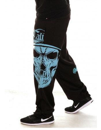 Cali Skull Sweatpants BlackNSkyblue by BSAT