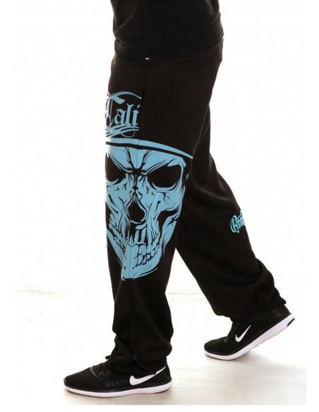 Cali Skull Sweatpants BlackNSkyblue by BSAT