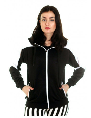 Panther Track Jacket BlackNWhite by BSAT