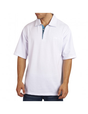 Townz Polo Shirt Plaid White