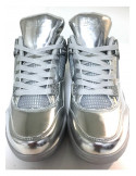 Cultz Shiny Silver Sneaker