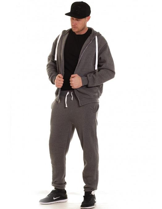 Access Solid Sweat Suit Dark Grey