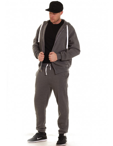 Access Solid Sweat Suit Dark Grey