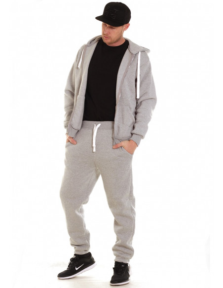 Access Solid Sweat Suit Light Grey