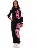 Cali Skull Ladies Sweatpants Pink by BSAT