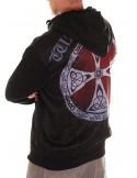 Nordic Nation Shield Red Zip Hoodie