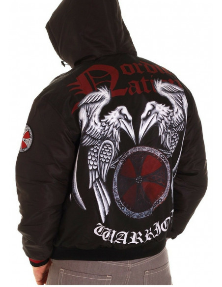 Nordic Nation Raven Winter Jacket Black