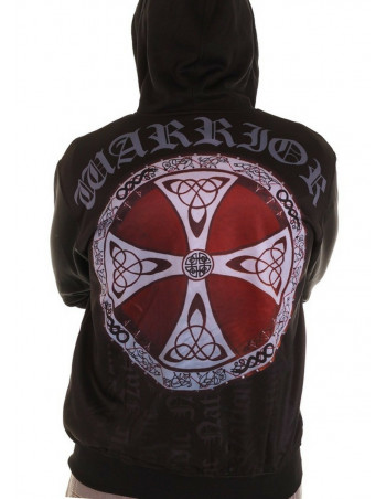 Nordic Nation Shield Red Zip Hoodie