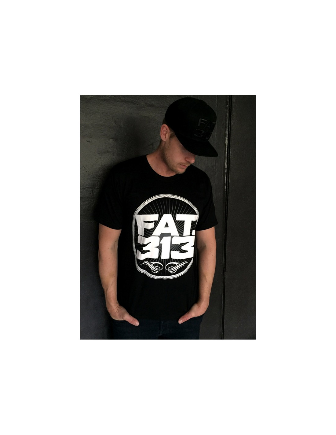 FAT.313 Bomber Excellence Tee BlackNWhite