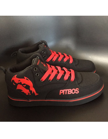 BrandDogLogo Shoes by Pitbos BlackNRed