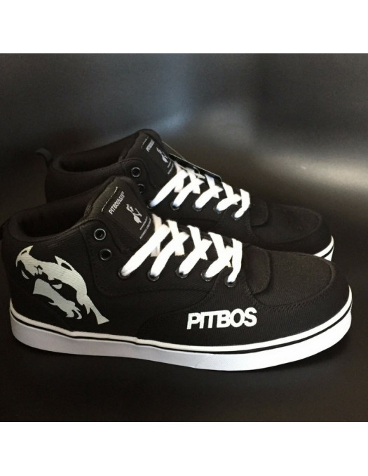 BrandDogLogo Shoes by Pitbos BlackNWhite