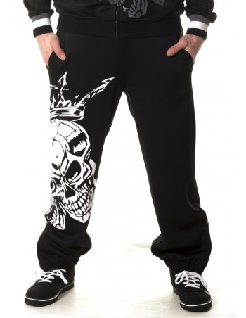 Crown Skull Sweatpants by BSAT