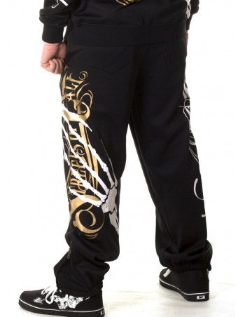 Cali Street Sweatpants Black/WhiteGrey/Gold