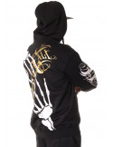 Cali Street ZipHoodie Black/WhiteGrey/Gold