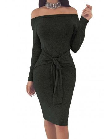 Sporty Bodycon Dress Charcoal