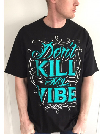 Vibe Tee BlackNGreen by MOB Inc