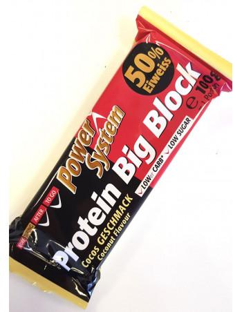 Big Block Protein Bar Cocos 100g, 50gr. protein Rebel Protein Bar