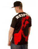 Respect Tee Black/Red/White by Pitbos