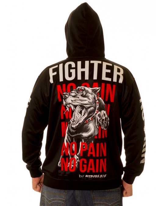 Fighter No Pain No Gain ZipHoodie by Pitbos