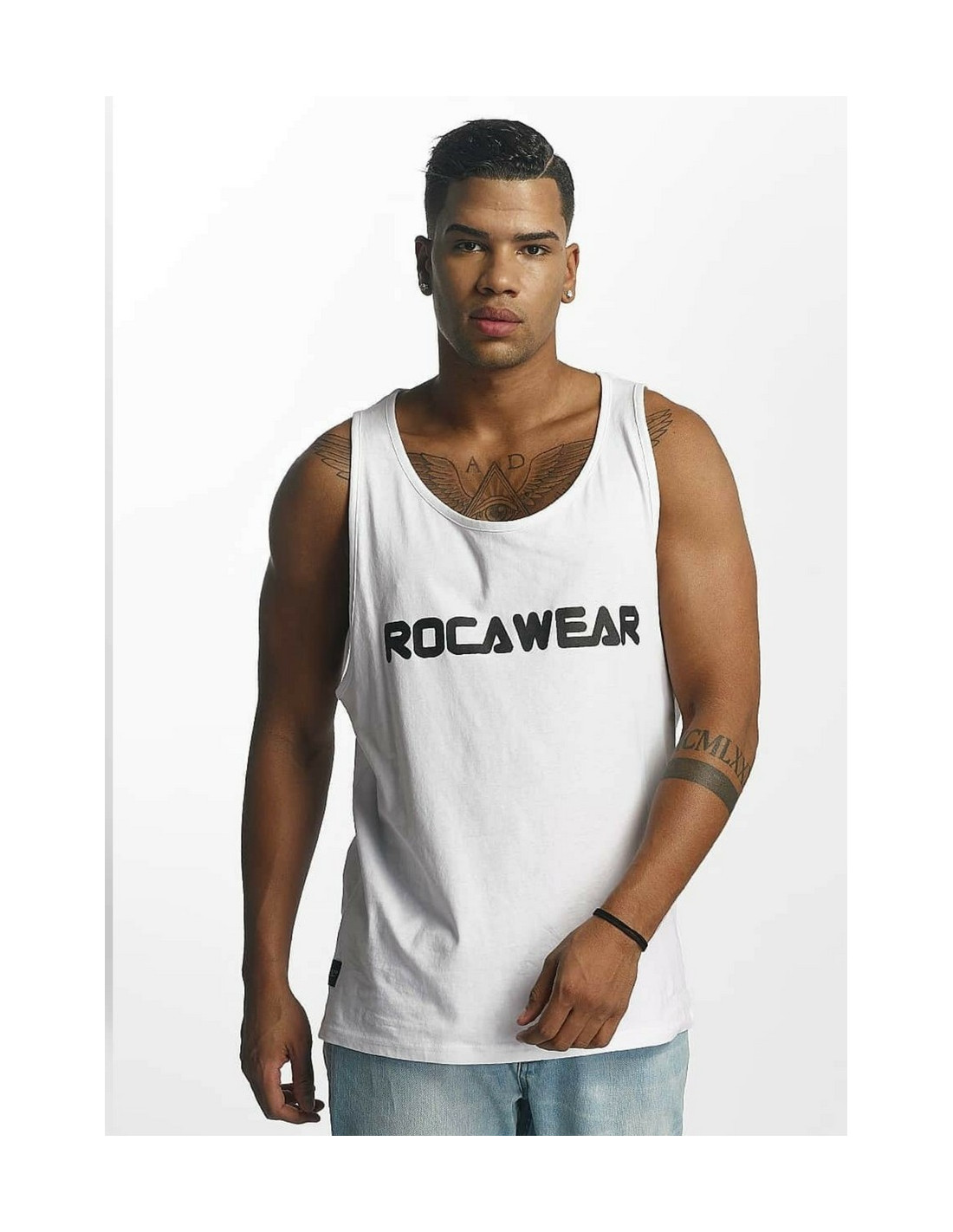 Rocawear Tank Top Color Block White