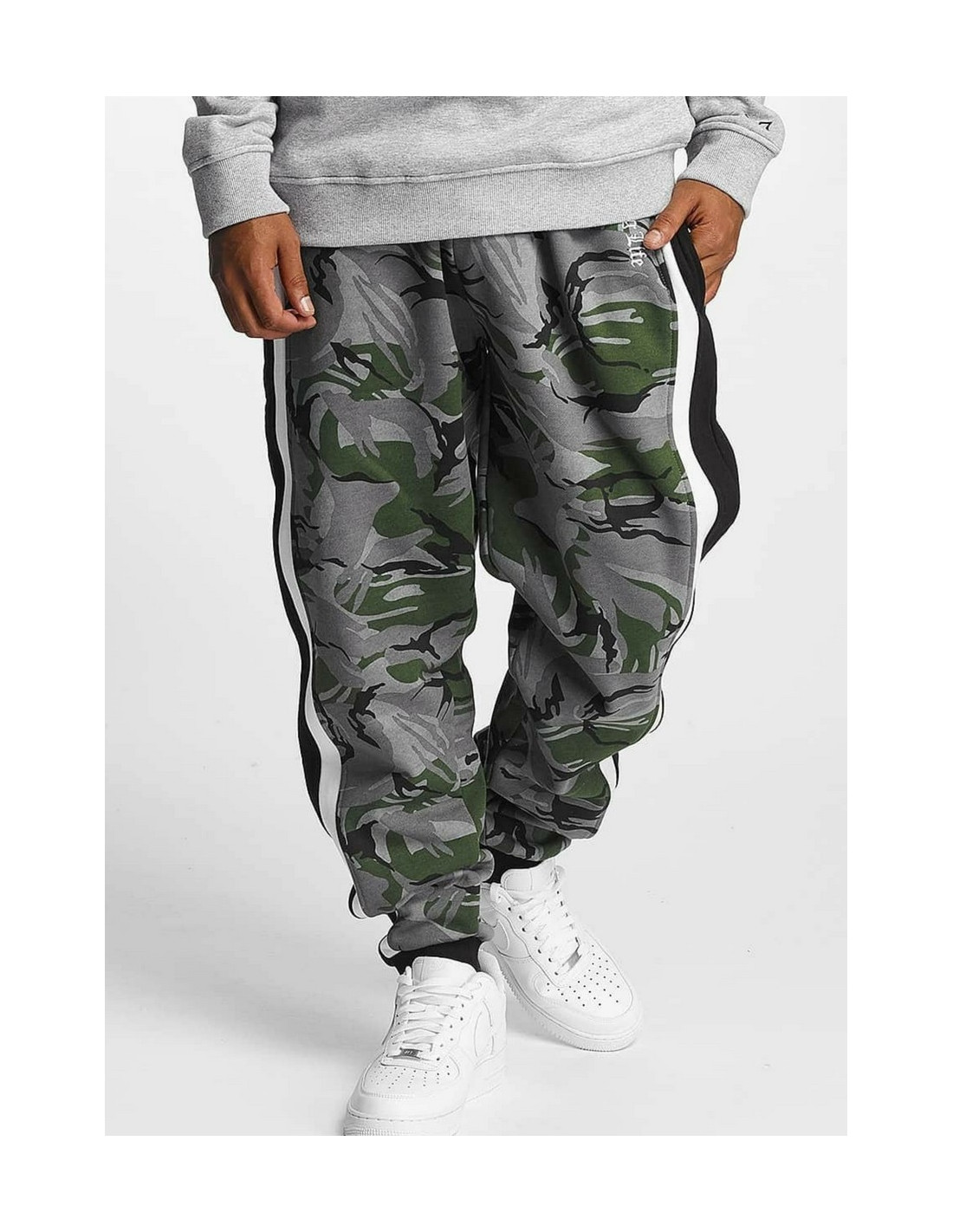 Thug Life Sweat Pant Lecter Black Camo