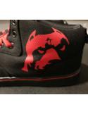 BrandDogLogo Shoes by Pitbos BlackNRed
