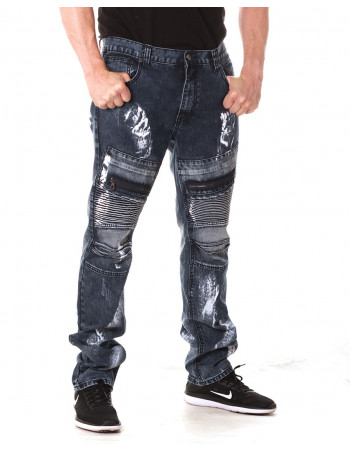Access Denim Biker Jeans Dark Paint