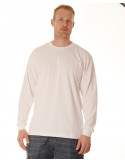 LS Crew Neck Tee White