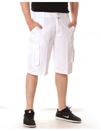 Access Washed Cargo Shorts White