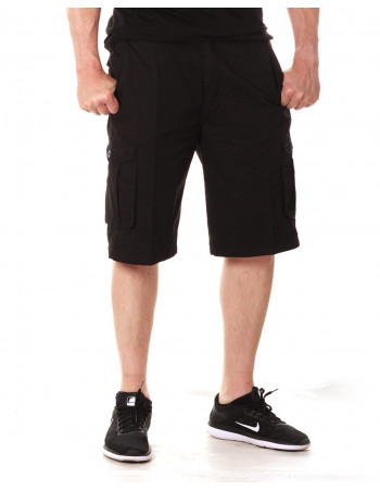 Access Washed Cargo Shorts Black
