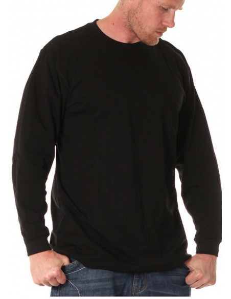 LS Crew Neck Tee Black