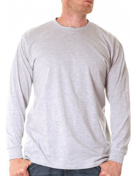 LS Crew Neck Tee Light Grey