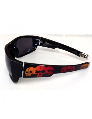 LOCS Hardcore Skull Shades Black/Red