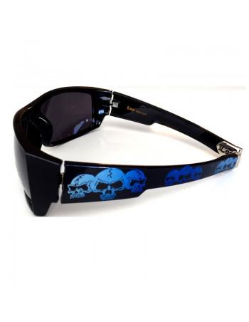 LOCS Hardcore Skull Shades Black/Blue