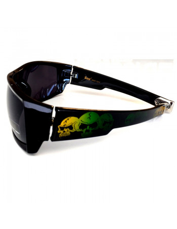 LOCS Hardcore Skull Shades Black/Green