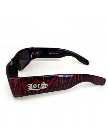 LOCS Hardcore Shades Spider Black/Red