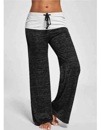 Yoga Wide Pants CharcoalNWhite