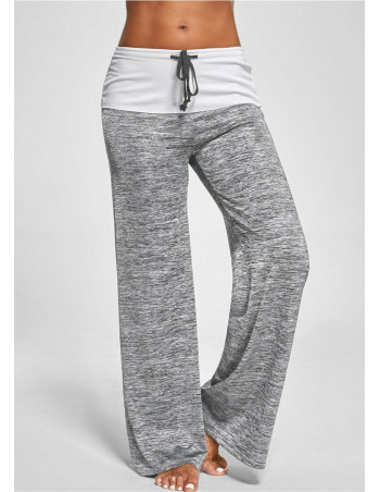 Yoga Wide Pants GreyNWhite