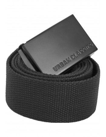 Long Canvas Belt black 140cm