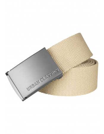 Beige Canvas Belt by Urban Classics